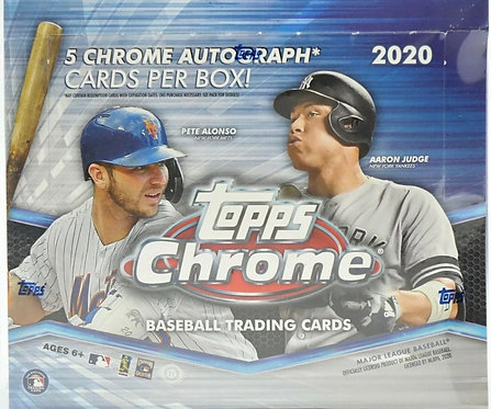 2020 Topps Chrome Baseball Jumbo HTA Box