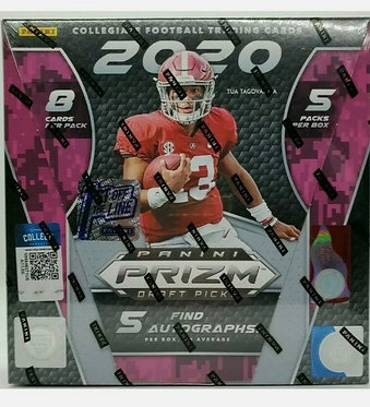 Sealed 2020 Panini Prizm Draft Picks Hobby Box / 5 Autos