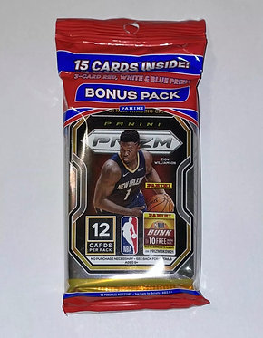 2020-21 Panini Prizm Basketball Cello- Red, White And Blue 15 Card Value Pack