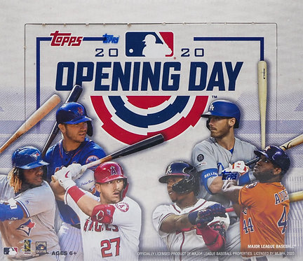 2020 Topps Opening Day Baseball Trading Cards Box