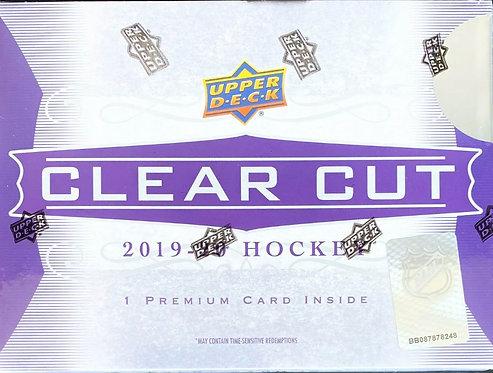 019/20 UPPER DECK CLEAR CUT Hockey Hobby Box Hard-Signed Autograph Card