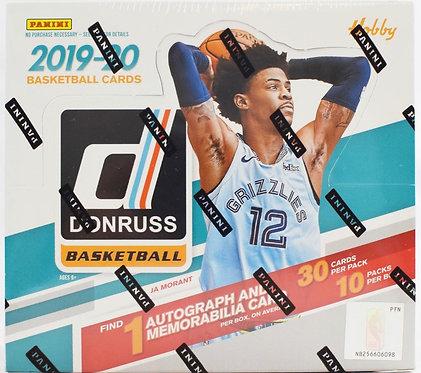 2019-20 donruss basketball hobby box