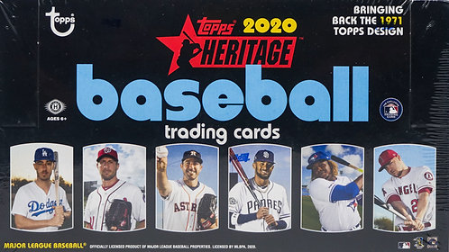 2020 Topps Heritage Baseball Trading Cards Box