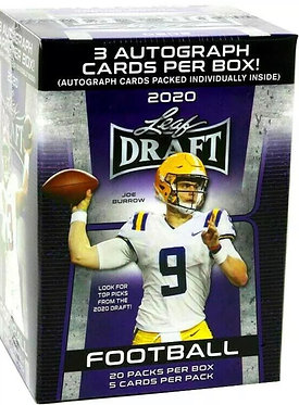 2020 Draft Football Trading Card PREMIUM RETAIL BLASTER Box
