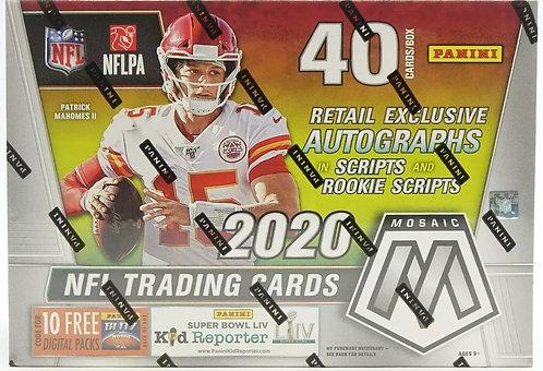 New 2020 Panini NFL Mosaic Football Retail Mega Box Factory Sealed