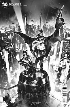 BATMAN #90 3RD PTG JORGE JIMENEZ B&W VAR