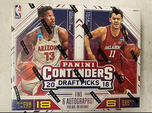 2018-19 Panini Contenders Draft Picks Basketball Hobby Box