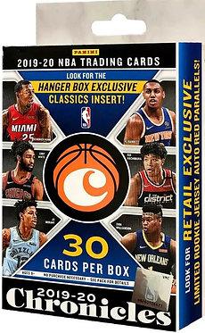 NBA Panini 2019-20 Chronicles Basketball Exclusive Trading Card HANGER Box
