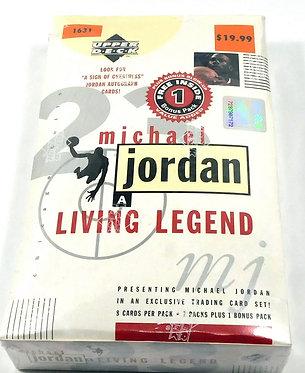 1998-99 Upper Deck Michael Jordan A Living Legend Blaster Box Sealed (8 Packs)