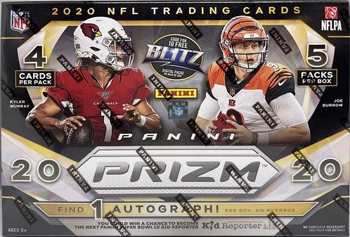 2020 Panini Prizm Football Sealed Mega Box 1 Auto & 1 Rookie Jersey Card Per Box