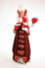 Queen of Hearts Stilt Walker