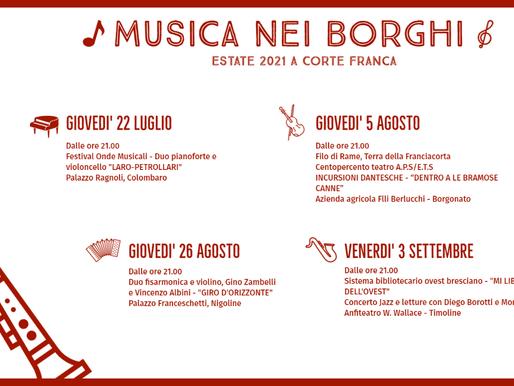 Musica nei Borghi 2021 a Corte Franca