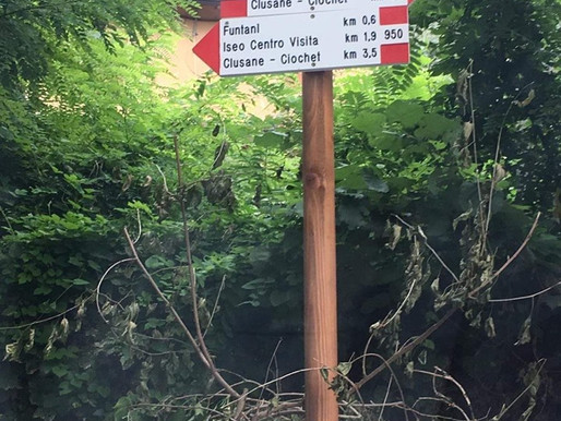Nuova segnaletica CAI nella Riserva delle Torbiere del Sebino