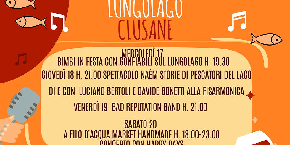 SETTIMANA DELLA TINCA AL FORNO Programma eventi e spettacoli Lungolago Clusane
