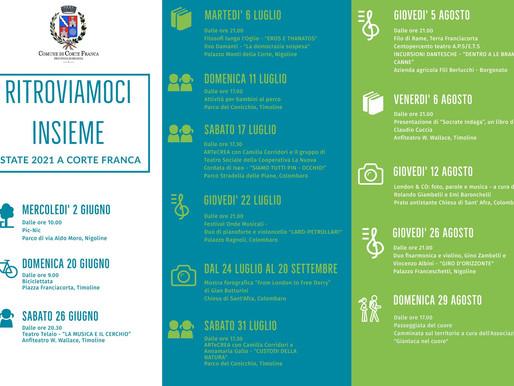 Corte Franca Programma eventi estate 2021