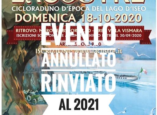 EVENTO ANNULLATO | La Lacustre cicloraduno d'epoca del lago d'Iseo | 18 ottobre 2020