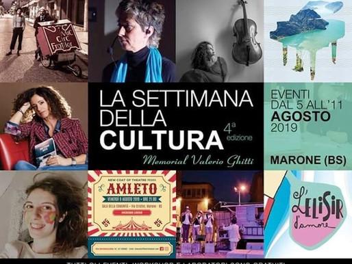 Marone dal 5 all'11 agosto La Settimana della cultura