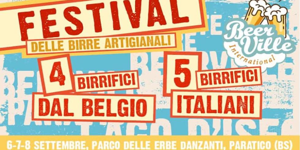 Paratico 6-7-8 settembre 2019  Beerville - festival delle birre artigianali