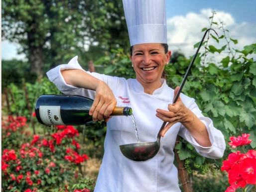 Lezioni di cucina dalla super chef Francesca Massetti tra le vigne di Mosnel