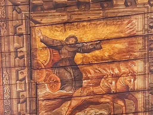 San Francesco sul carro di fuoco nella chiesa dell'ospedale di Iseo
