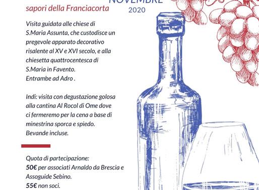 Arte, profumi, colori e sapori della Franciacorta | 7 novembre 2020