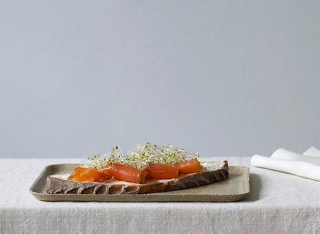 Sandwich med taremarinert laks