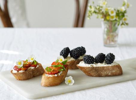 Bruschetta med bær