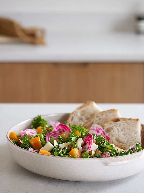 Grønnkålsalat med syltede gresskar