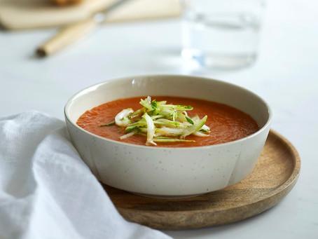 Fyldig tomatsuppe med squash