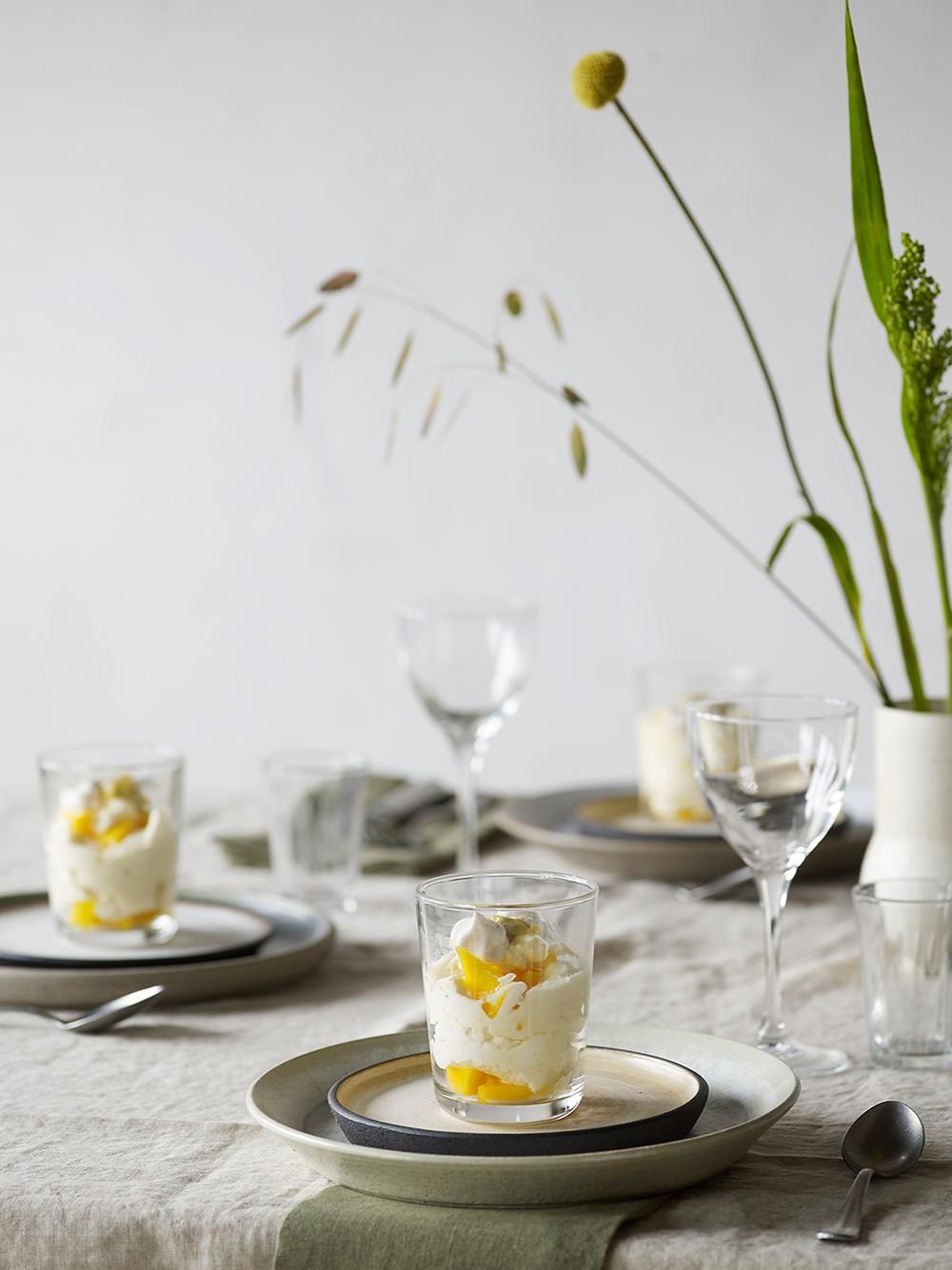 Dessert med tropiske smaker