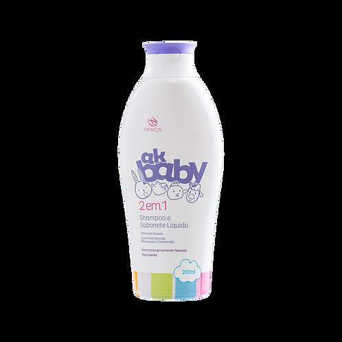 AK Baby 2 em 1 Shampoo e Sabonete Líquido 200ml