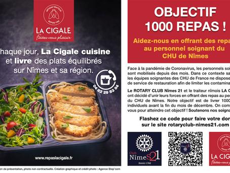 La Cigale se mobilise pour le personnel soignant du CHU de Nîmes : Objectif 1000 repas !
