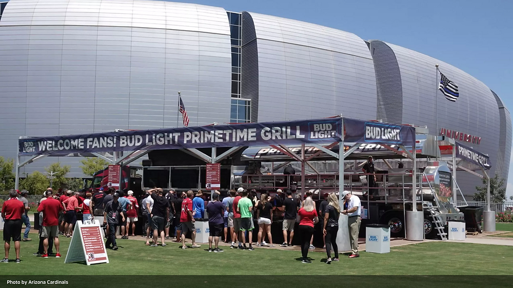 Red and White Practice Primetime Grill