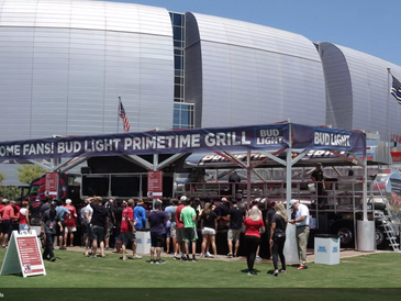 Primetime Grill at the Red And White Practice To Aid Fallen Officer