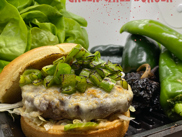 Say Hello to Our New Green Chile Burger!