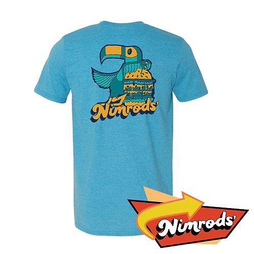 Nimrods' Parrot Tee - Blue