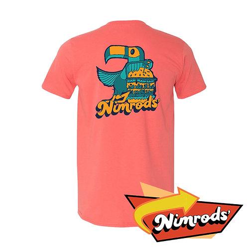 Nimrods' Parrot Tee - Peach