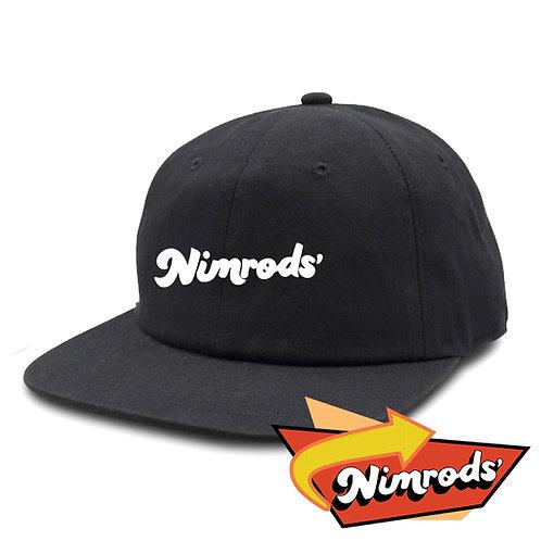 Nimrods' Vintage Washed Ballcap - Black