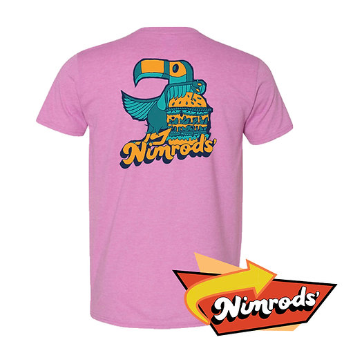 Nimrods' Parrot Tee - Pinkish