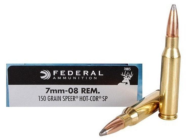 FEDERAL- 7MM-08 REM 150GR HOT COR SP
