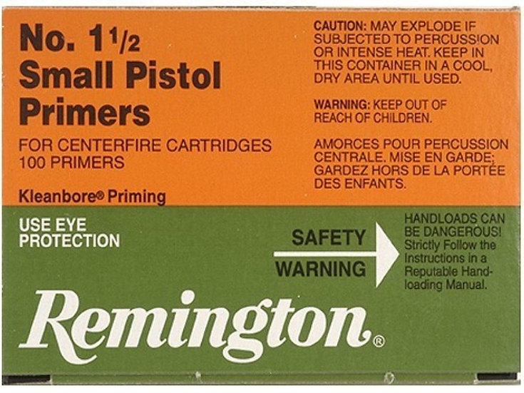 REMINGTON - 1.5 SMALL PISTOL PRIMERS