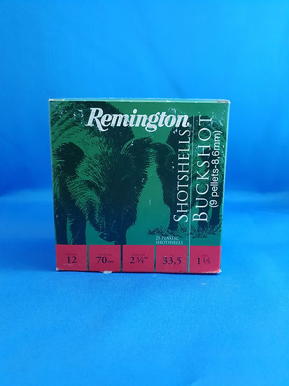 REMINGTON-  BUCKSHOT FIELD 12GA 33.5GR