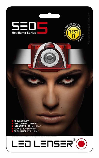LED LENSER- SEO 5 RED