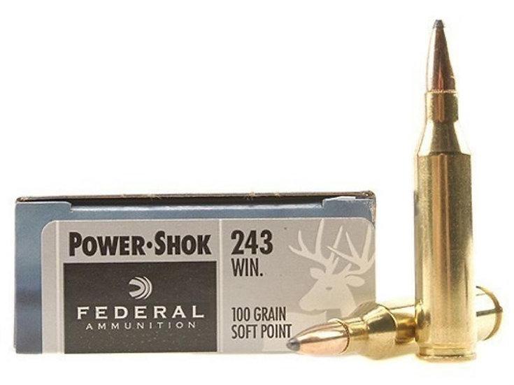 FEDERAL- 243 100GR SP POWER-SHOK