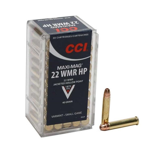CCI 22MAG MAXI MAG 40GR JACKETED HOLLOW POINT