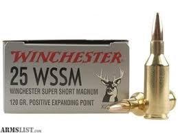 WINCHESTER 25WSSM 120GR PEP