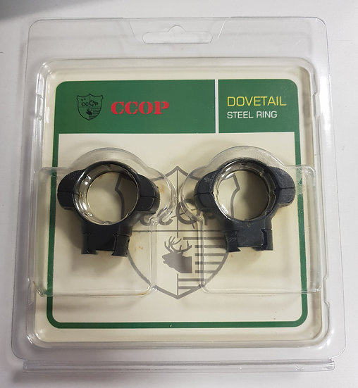 CCOP-3/8 1`` DOVETAIL STEEL RINGS MEDIUM