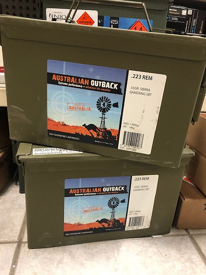 AUSSIE OUTBACK 223 REM 55 GR GAME KING 900 PACK
