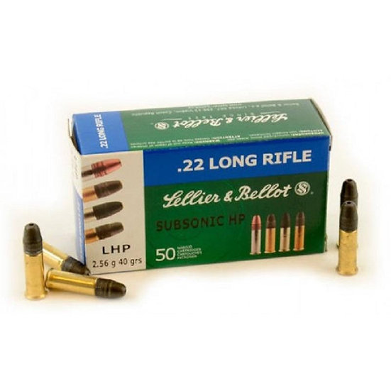 SELLIER AND BELLOT- 22LR 40GR SUBSONIC HP