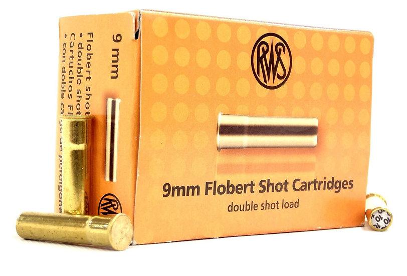 RWS- 9MM FLOBERT SHOT CARTRIDGE DOUBLE SHOT LOAD NO.8